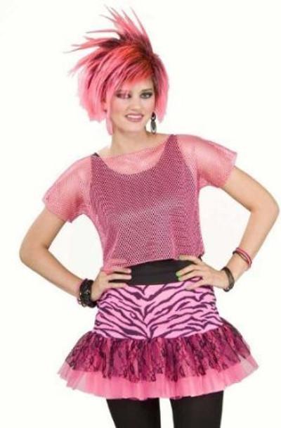 80's Hot Pink Fishnet Shirt 8580