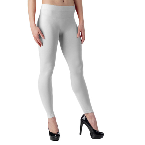 White Footless Leggings 8092