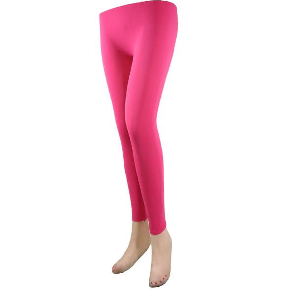 Hot Pink Footless Tights 8096