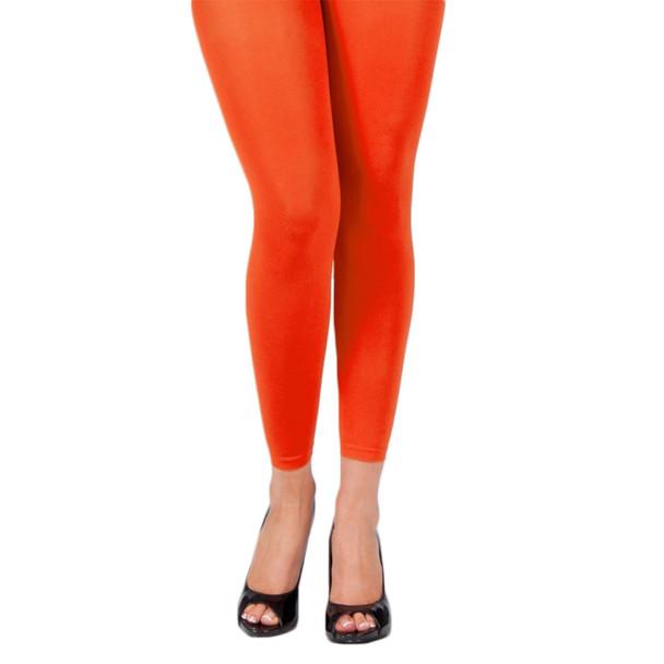 Orange Footless Leggings 8097