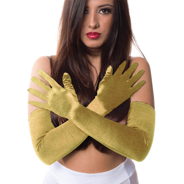 "Gold Gloves Opera Satin 23""  1214"
