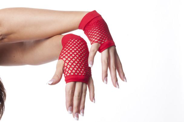80's Short Fishnet Gloves Variety of Colors