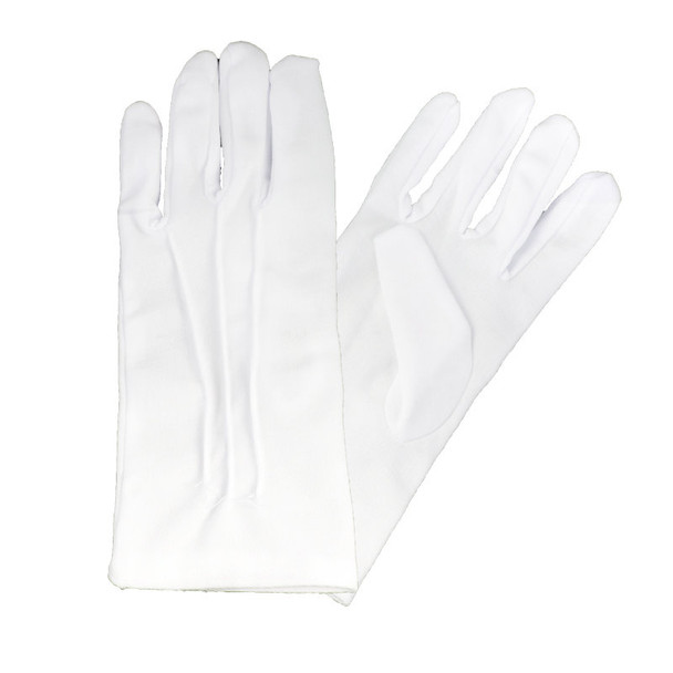 Stitched Gloves White w/ SNAPS Adult PAIR 5020 12 PACK