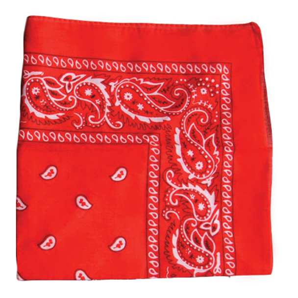 "Red Bandanna Paisley 22"" Square Standard 100% Cotton 12 PACK  1919DZ"