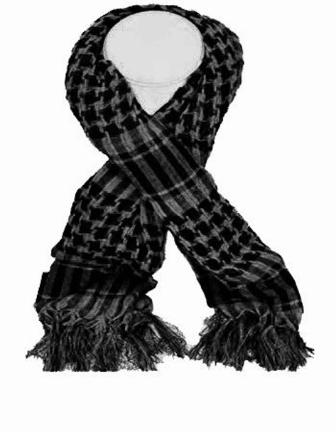 Grey & Black Arab Shemagh Houndstooth Scarf 12 PACK 2071