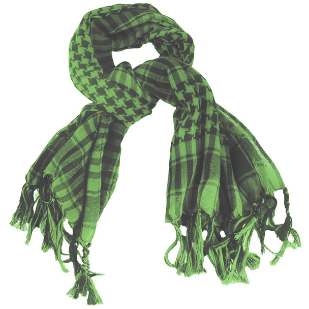 Black And Green Arab Shemagh Houndstooth Scarf 2072