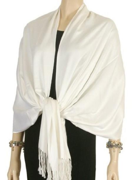 Ivory Pashmina Shawl 100% Fine Wool Mix 12 PACK 2105