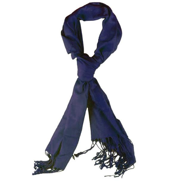 Navy Pashmina Shawl 100% Fine Wool Mix 12 PACK 2108