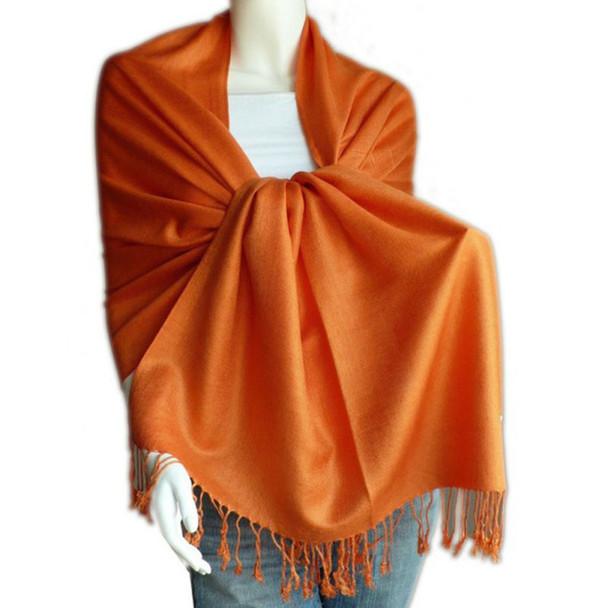 Orange Pashmina Shawl 12 PACK 2109
