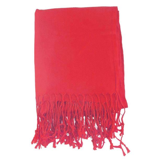Red Pashmina Shawl 12 PACK 100% Fine Wool Mix  2111