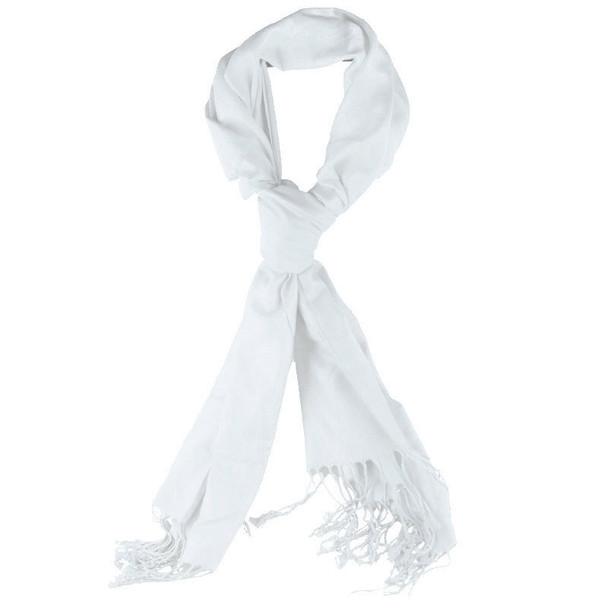 White Pashmina Shawl 100% Fine Wool Mix 12 PACK 2116