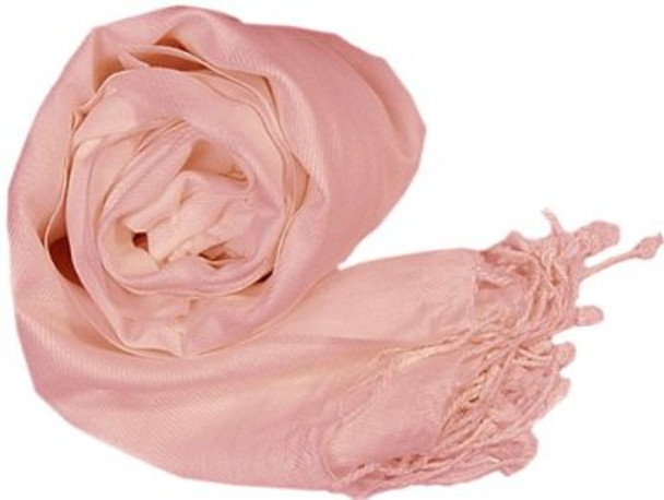 Peach Pashmina Shawl 100% Fine Wool Mix 12 PACK 2121