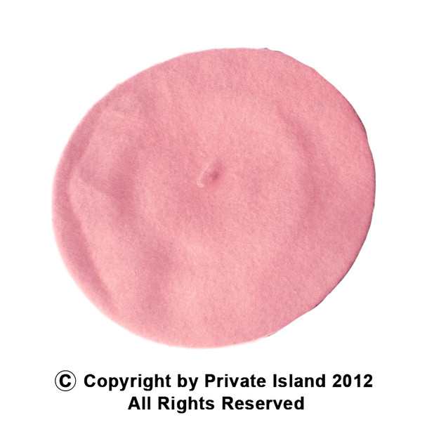 "Pink Beret Wool 22.5"" Standard Adult Size  1368"