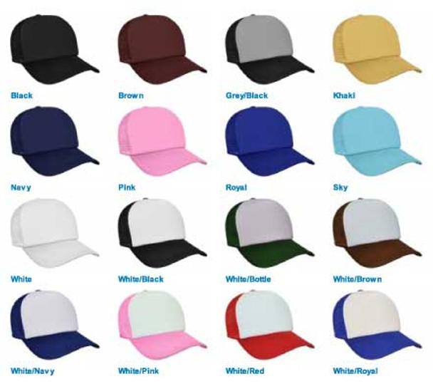 Wholesale Trucker Caps |  Bulk Trucker Caps | Mixed Colors 12 PACK