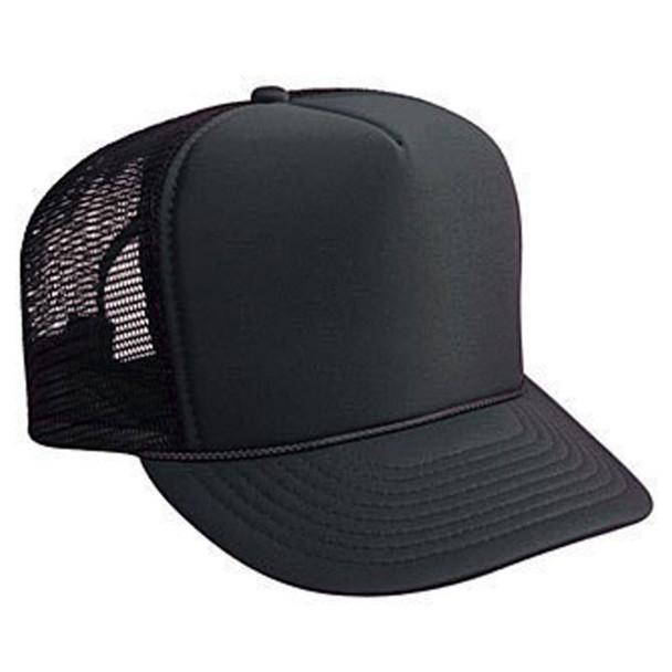 Black Trucker Caps    12 PACK 1455