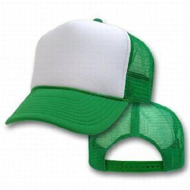 Green Trucker Caps |  White Front 1466