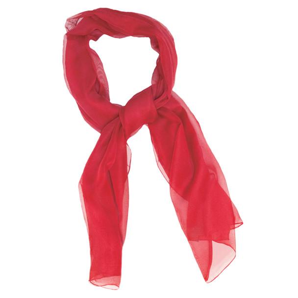 """Red Long Sheer Chiffon Scarf  21"""" x 60""""  2133"""