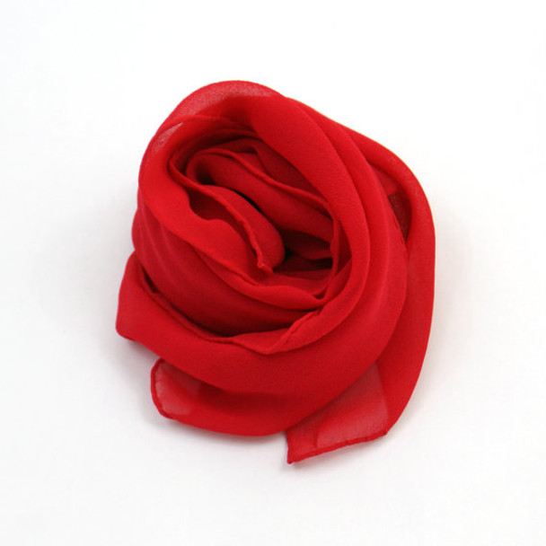 """Red Square Chiffon Scarf 50's 12 PACK 24"""" x 24"""" 2154"""