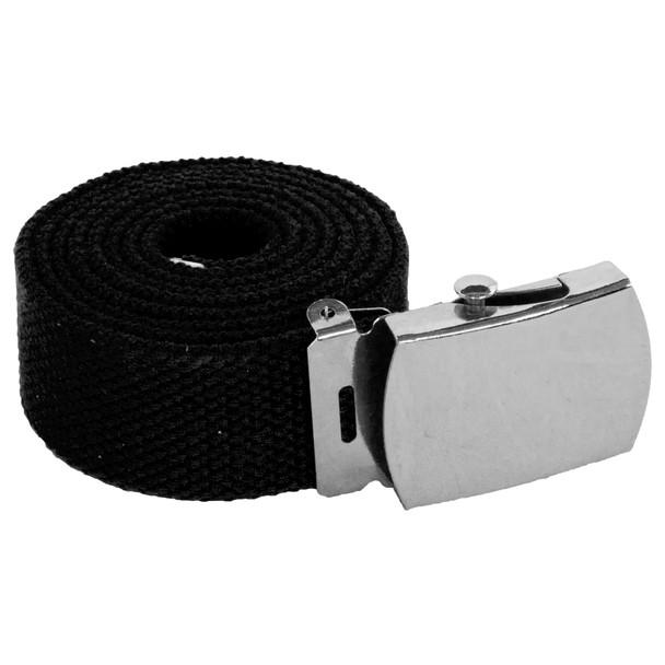 "Mens Canvas Belts | Canvas Web Belt | Adjusts to 44-46"" Black 2210"