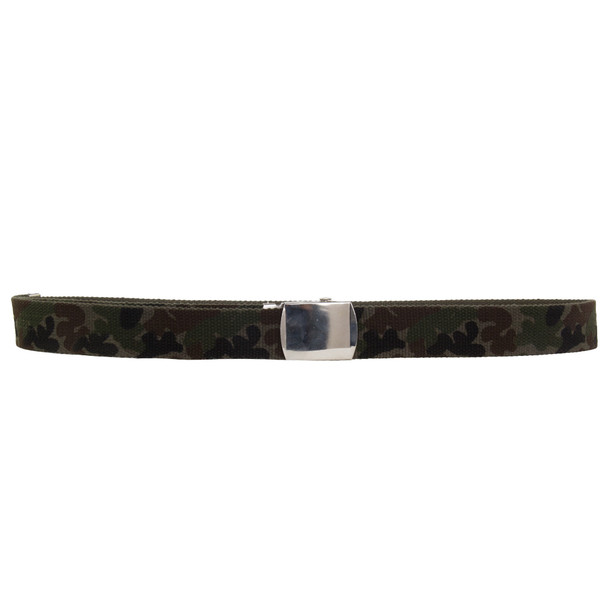"Camo Canvas Adjustable Belt Adjusts to 44-46"" Size 2212"