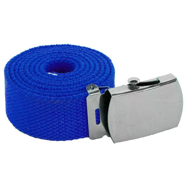 """Royal Blue Canvas Belt Adjustable Adjusts to 44-46"""" Size 2221"""