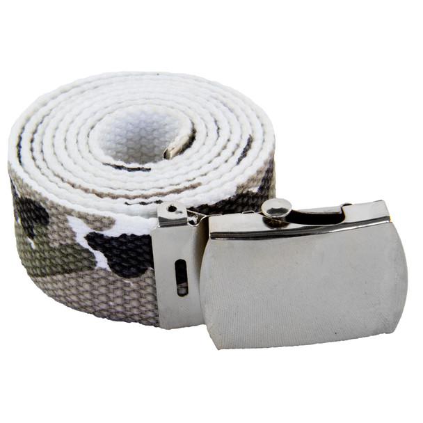 White Camo Canvas Adjustable Belt 2224
