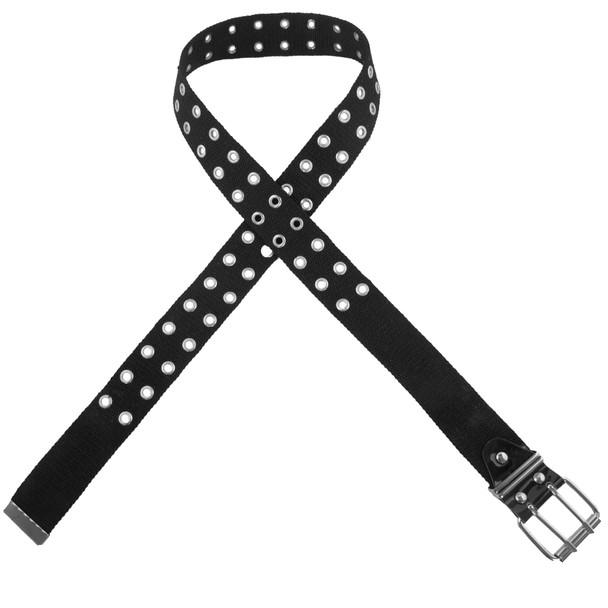 Black Canvas Two Hole Grommet Belts Mix Sizes 2270-A