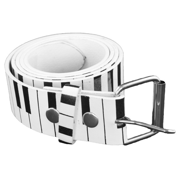 White Piano Belt ADULT 2396-2399