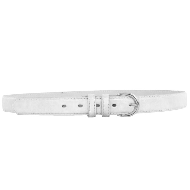 12 PACK White 1 Inch Skinny Belts Mix Sizes 2564A