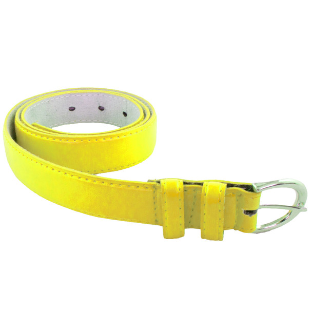 Skinny Belts Yellow 1 Inch Mix Sizes 12 PACK 2596AY