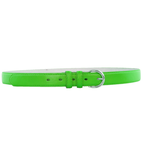 12 PACK Neon Green 1 Inch Skinny Belts Mix Sizes 2636ANG