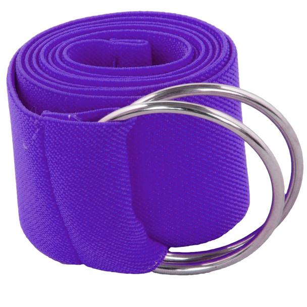 Purple Stretch D-Ring Belt 2692