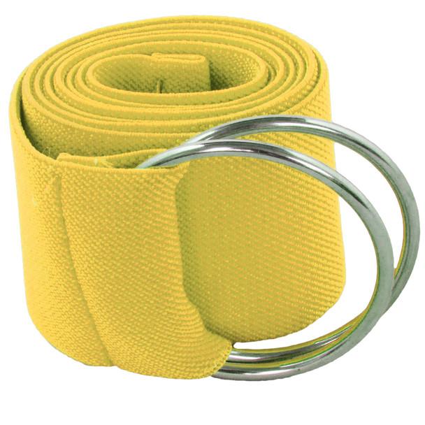 Yellow Stretch D-Ring Belt 2697