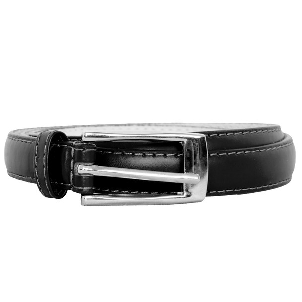 Black Skinny Belt with Rectangle Buckle 2760-2763