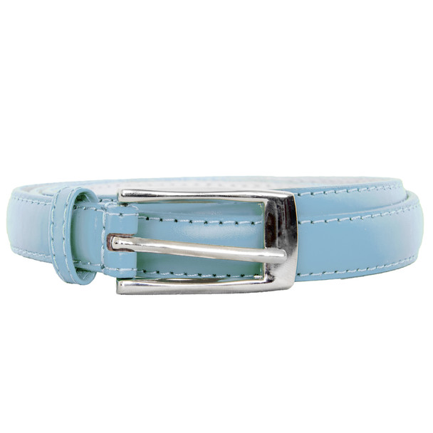 Light Blue Skinny Belt with Rectangle Buckle 2792-2795