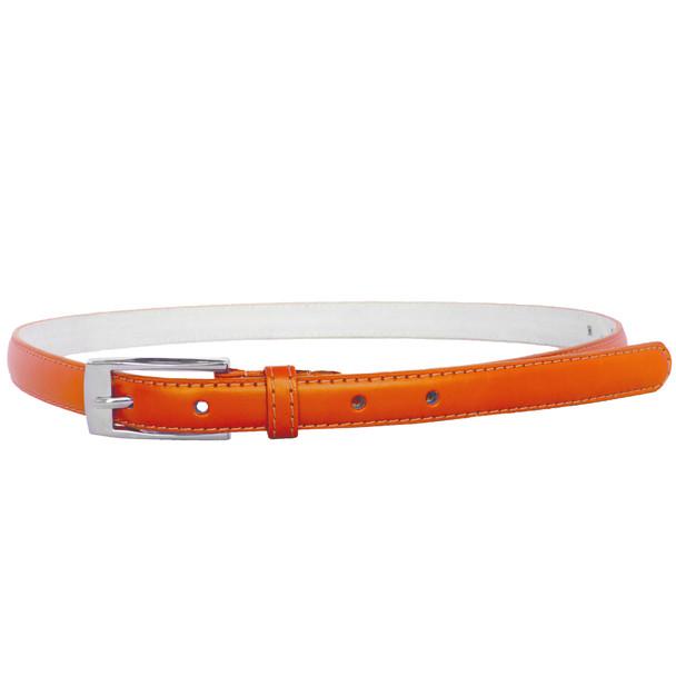 Orange Skinny Belt with Rectangle Buckle 2800-2803