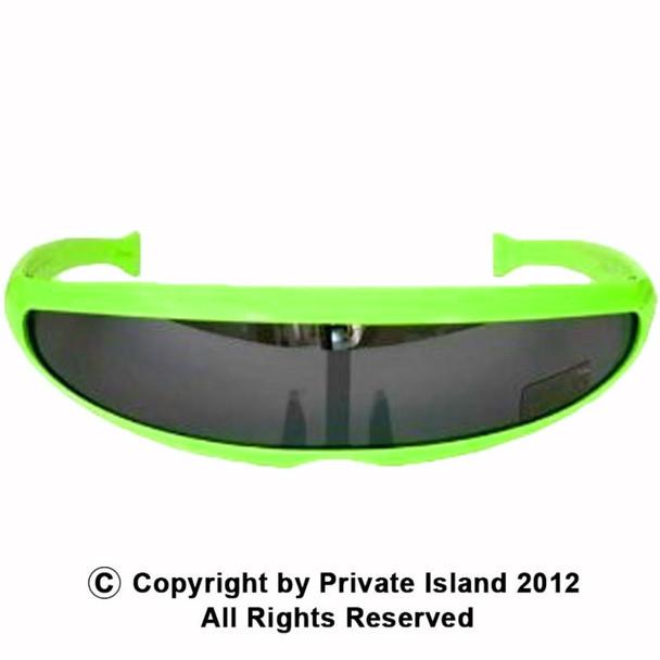 Retro Sunglasses 80's Neon Green 1003