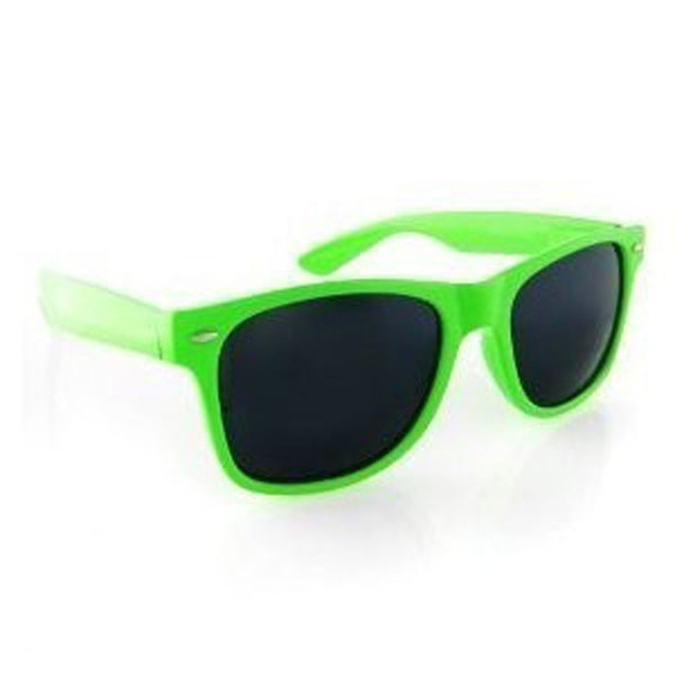 Green Sunglasses    Iconic 80's Style   12 PACK Adult Size 1052