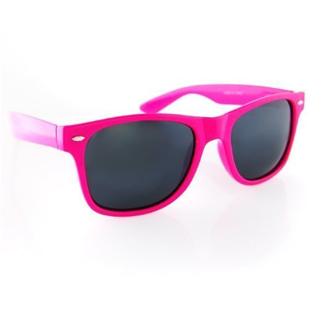 Hot Pink Sunglasses |  Iconic 80's Style | 12 PACK Adult Size 1054