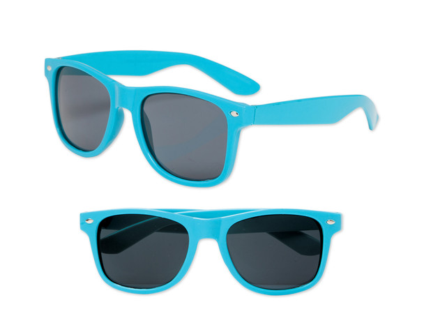 Turquiose Blue Sunglasses |  Iconic 80's Style | 12 PACK Adult Size 1057