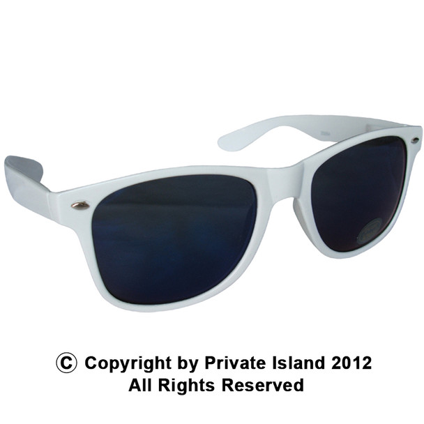White Sunglasses    Iconic 80's Style    12 PACK Adult Size 1058