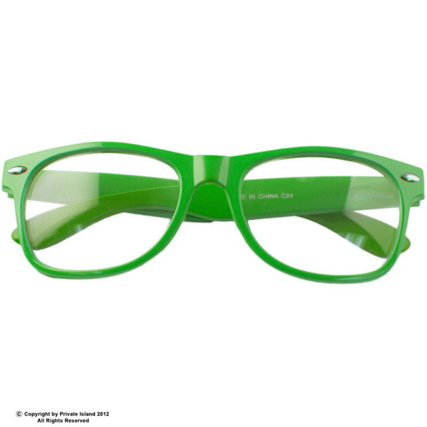 Green with Clear Lens  Adult Style Sunglasses 12 PACK 1083