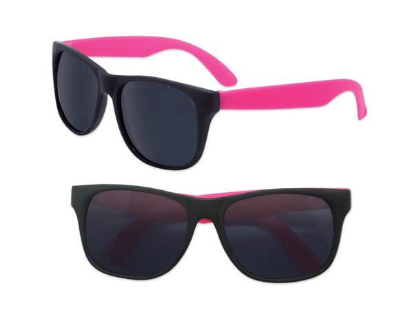 Party Orange Sunglasses | Iconic 80's Style | 12 PACK Sunglasses with Pink Legs 1178