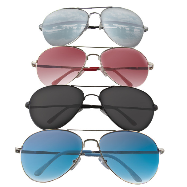 12 PACK Aviator Style Police Sunglasses Mixed Colors 1100