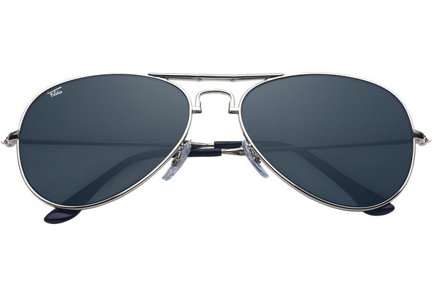 Retro Sunglasses Silver Smoke Frame Police Glasses 1108