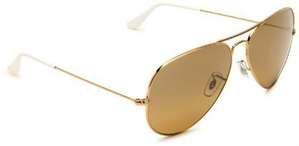 Gold Frame and Brown Lens Aviator Sunglasses 1109