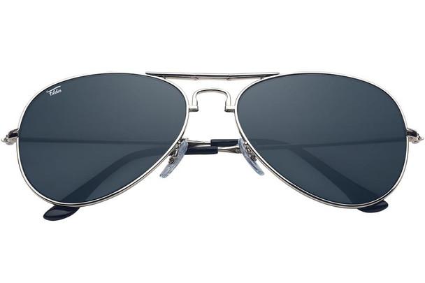 Retro Glasses Silver Frame/Black Lens Police Glasses 1110