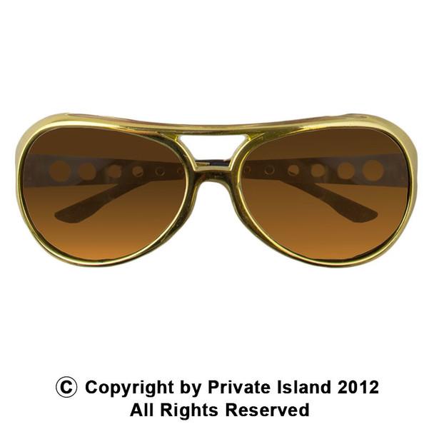 12 PACK Rockstar Elvis Style Sunglasses GOLD 1131A