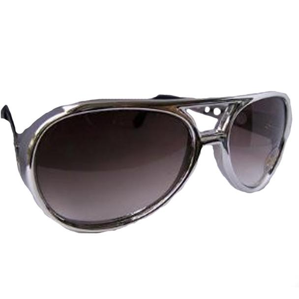 Silver Elvis Sunglasses |12 PACK Black Lens 1136
