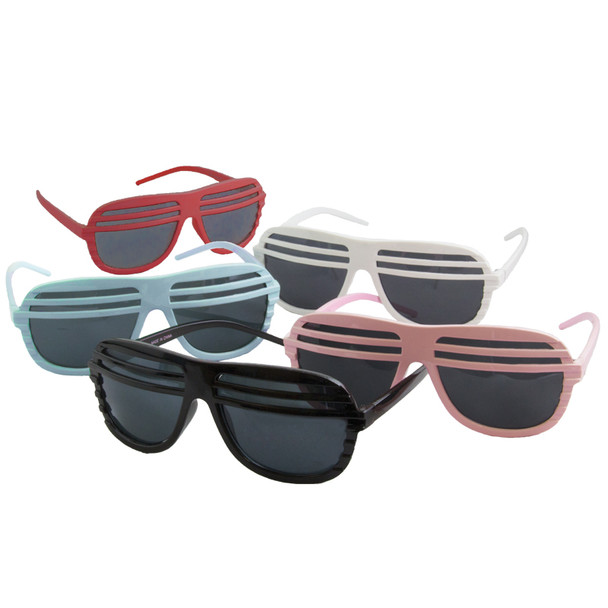 12 PACK Half Shutter Shades Mix Colors 1150